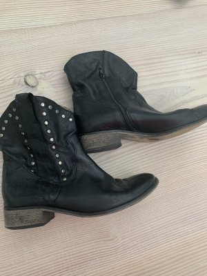 Eye Western Booties black-silver-colored