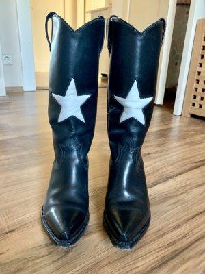 Buffalo Western Boots black-white