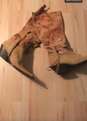 Boots western multicolore daim