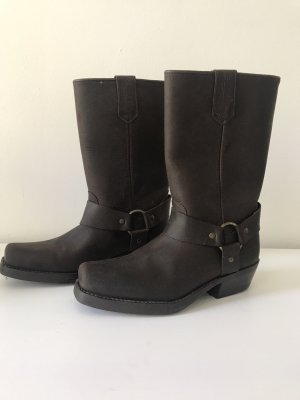 Kentucky Western Botas estilo vaquero marrón-marrón oscuro Cuero