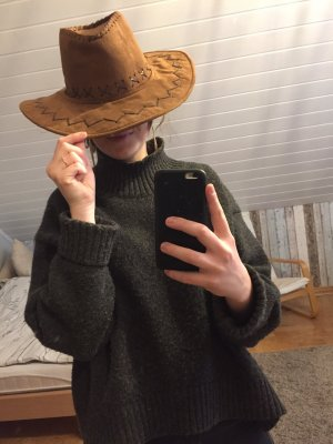Cappello da cowboy marrone-marrone-nero