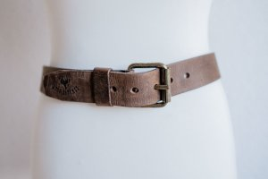 Cowboys Belt - Leather / Leder made by C.B.A - 80 cm - Messingschnalle