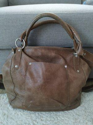 Cowboysbag Crossbody bag grey brown leather