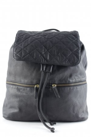 Cowboysbag Schoolrugzak zwart straat-mode uitstraling