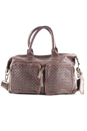 Cowboysbag Crossbody bag brown-dark brown weave pattern casual look