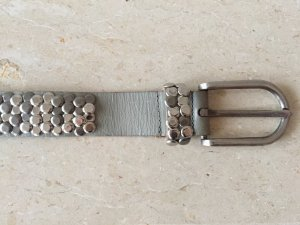 Cowboysbelt Studded Belt silver-colored-light grey