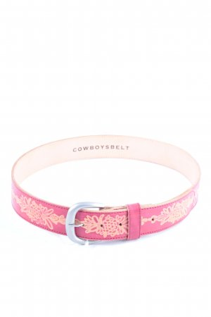 Cowboysbelt Leather Belt neon red-bright red casual look