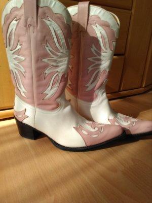 Buffalo Stivale western bianco-rosa