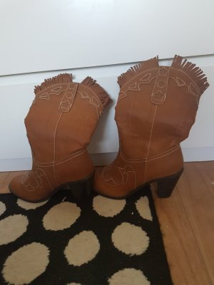 Boots western marron clair-brun