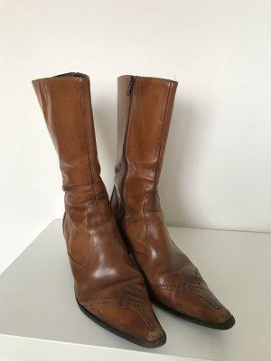 Boots western cognac