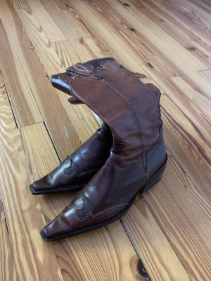 Western Boots dark brown-brown leather