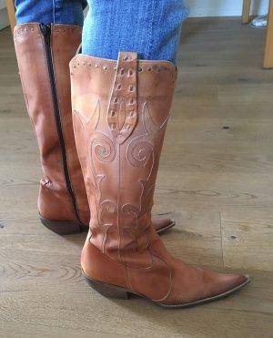 Cowboystiefel aus Italien hellbraun