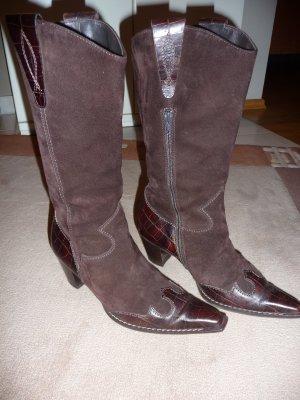 Cowboystiefel braun Velourleder Paul Green Gr. 4 => 37