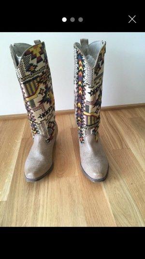 Western Laarzen licht beige