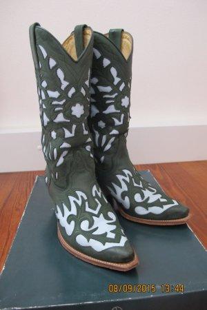 """Cowboystiefel grün/hellblau von """"Boots"""""""