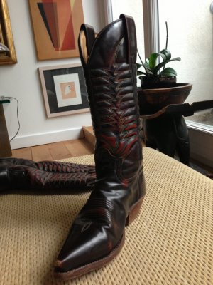 Cowboysbelt Western Boots multicolored leather
