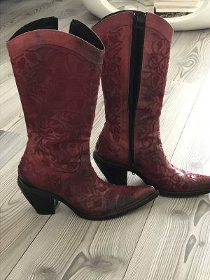 Western Boots red leather