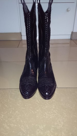 Jeannot Western Boots black leather