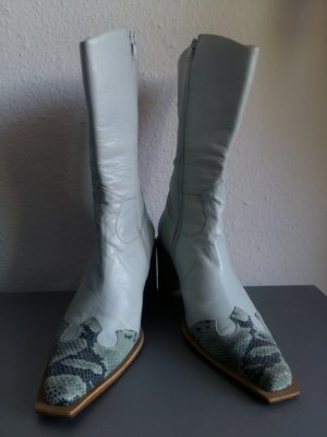 Western Boots light blue-baby blue leather