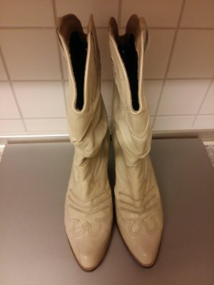 Western Boots oatmeal leather