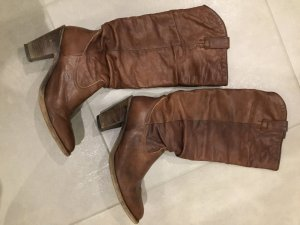 Sendra Western Boots cognac-coloured leather