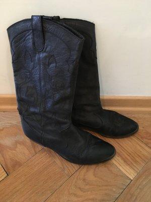 Cowboystiefel von Zara in schwarz