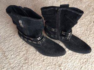 Graceland Botas estilo vaquero negro-color plata Imitación de cuero
