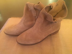 H&M Western Booties light brown-bronze-colored leather