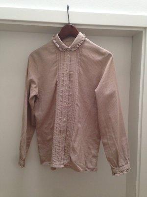 Cowgirl-Bluse in braunem Vichy, romantisch und preppy