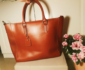 Cox Carry Bag gold-colored-cognac-coloured