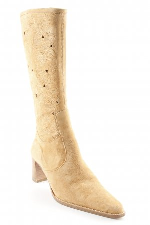 Cox Absatz Stiefel camel Country-Look