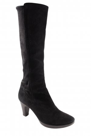 Cox Heel Boots black simple style