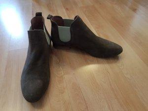 Cox Chelsea Boots 41 khaki hellgrün Wildleder