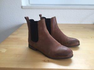 Cox Chelsea laarzen bruin-cognac Leer