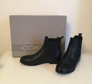 Cox Chelsea Boots Leder Schwarz Gr. 38