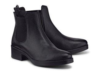 COX Chelsea-Boots schwarz Gr. 39, Schlangenlederoptik - neuwertig