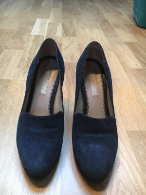 COX Dunkelblau Pumps Vintage Look