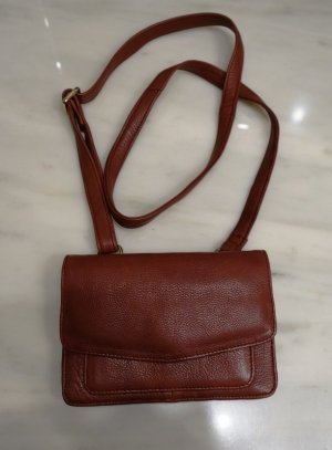 COX Görtz cross-body Tasche City Bag Echtleder cognac Vintage Retro Mori Girl