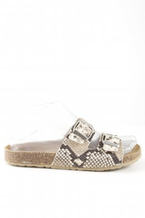 Cox Comfort Sandals natural white-brown animal pattern casual look