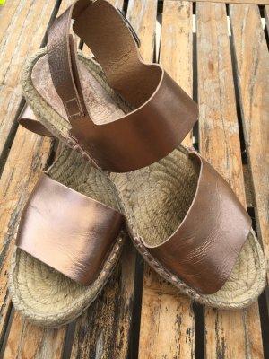 Cox Espadrille sandalen brons-goud