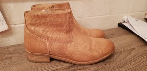 Cox Leder Stiefeletten Chelsea Boots Größe 39 beige