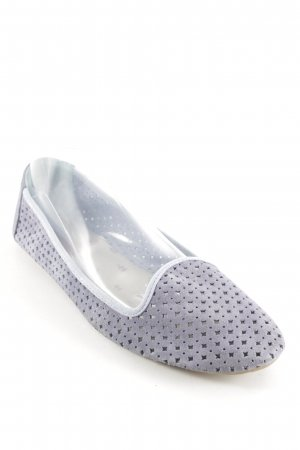 Cox Mary Jane Ballerinas azure loosely knitted pattern simple style