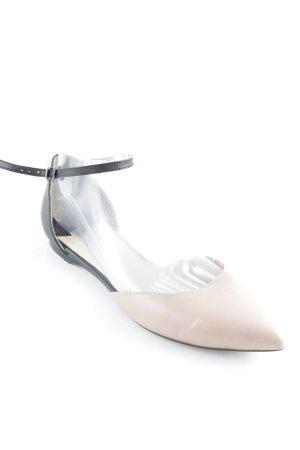 Cox Mary Jane Ballerinas schwarz-altrosa klassischer Stil