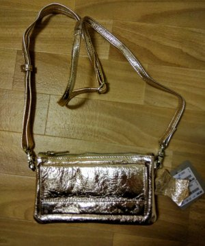Cox Metallic Ledertasche Gold Neu