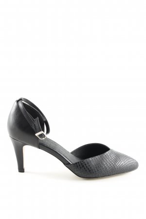 Cox Strapped pumps black animal pattern business style
