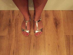 COX Sandale in silber Gr. 40