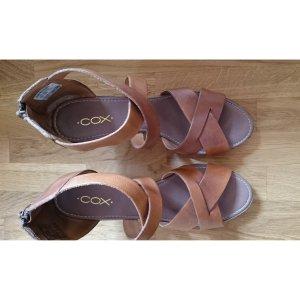 Cox Sandalen in Leder mit Keilabsatz Grösse 39