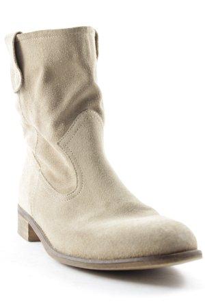 Cox Schlüpf-Stiefeletten sandbraun-beige Casual-Look