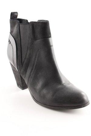 Cox Schlüpf-Stiefeletten schwarz Casual-Look