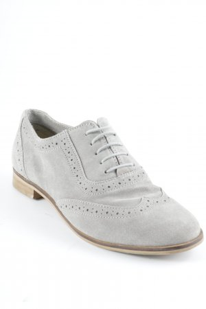 Cox Lace Shoes light grey-camel loosely knitted pattern casual look